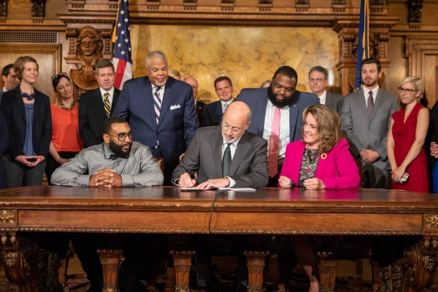 PA Governor Signing Clean Slate Bill into Law
